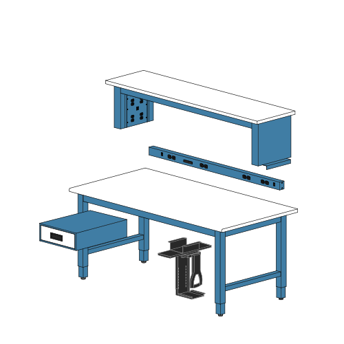 Industrial Workbenches & Workstations - 100% Made in USA